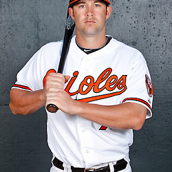 February 26, 2011; Sarasota, FL, USA; Baltimore Orioles outfielder Tyler Henson (74) poses during photo day at Ed Smith Stadium.  Mandatory Credit: Derick E. Hingle