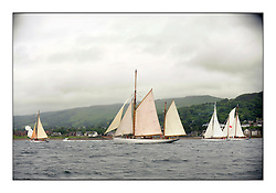 Day two of the Fife Regatta,Passage race to Rothesay.<br /> <br /> Solway Maid, Roger Sandiford, GBR, Bermudan Cutter, Wm Fife 3rd, 1940, Kentra, E & D Klaus, GBR, Gaff Ketch, Wm Fife 3rd, 1923<br /> <br /> * The William Fife designed Yachts return to the birthplace of these historic yachts, the Scotland's pre-eminent yacht designer and builder for the 4th Fife Regatta on the Clyde 28th June–5th July 2013<br /> <br /> More information is available on the website: www.fiferegatta.com
