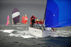The Clyde Cruising Club's Scottish Series held on Loch Fyne by Tarbert. .Day 4 Racing with a wet Southerly to start clearing up for the last race...GBR8140C ,Zephyr ,Steven Cowie ,CCC/FYC/RGYC ,First 40