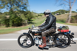 Vern Acres of Ontario, Canada on his 1914 Henderson during the Motorcycle Cannonball Race of the Century. Stage-3 from Morgantown, WV to Chillicothe, OH. USA. Monday September 12, 2016. Photography ©2016 Michael Lichter.