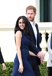 Prince Harry Duke of Sussex and Meghan Duchess of Sussex at the Government House Reception and to watch a demonstration by the This Girl Can campaign, Melbourne, Australia. Photo credit should read: Doug Peters/EMPICS
