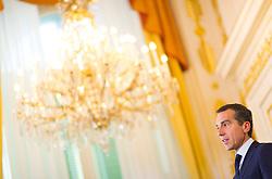 "24.09.2016, Bundeskanzleramt, Wien, AUT, Gipfeltreffen unter dem Titel ""Migration entlang der Balkanroute"", im Bild Bundeskanzler Christian Kern (SPÖ) // Federal Chancellor of Austria Christian Kern during ""Migration along the Balkan route"" Summit in Vienna, Austria on 2016/09/24, EXPA Pictures © 2016, PhotoCredit: EXPA/ Michael Gruber"