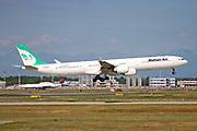 EP-MMQ Iranian Mahan Air Airbus A340-642 at Malpensa (MXP / LIMC), Milan, Italy