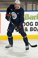KELOWNA, BC - SEPTEMBER 22:  Leon Draisaitl #29 of the Edmonton Oilers practices at Prospera Place on September 22, 2019 in Kelowna, Canada. (Photo by Marissa Baecker/Shoot the Breeze)