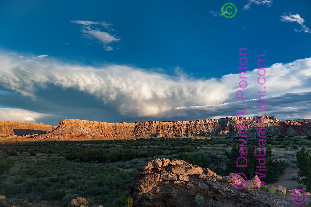 Storm clouds over White Mesa, New Mexico, © David A. Ponton