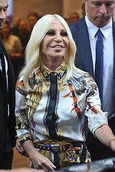 Donatella Versace in Milan for fashion week. 24 Sep 2017 Pictured: Donatella Versace. Photo credit: MEGA TheMegaAgency.com +1 888 505 6342