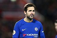 Cesc Fabregas of Chelsea looks on. Premier League match, Liverpool v Chelsea at the Anfield stadium in Liverpool, Merseyside on Saturday 25th November 2017.<br /> pic by Chris Stading, Andrew Orchard sports photography.