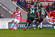 Kieran Sadlier of Doncaster Rovers (22) in action during the EFL Sky Bet League 1 match between Doncaster Rovers and Plymouth Argyle at the Keepmoat Stadium, Doncaster, England on 13 April 2019.