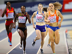 Great Britain's Eilidh Doyle competes in the Women's 400m Heat 7 during day one of the European Indoor Athletics Championships at the Emirates Arena, Glasgow.
