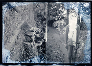 bouble exposed photo of an outdoor vacation trip Japan ca 1940s