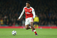 Alex Iwobi of Arsenal in action. UEFA Champions league group A match, Arsenal v Paris Saint Germain at the Emirates Stadium in London on Wednesday 23rd November 2016.<br /> pic by John Patrick Fletcher, Andrew Orchard sports photography.