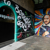 Shakespeare Graffiti, Wagamama's Restaurant, Southwark;<br />