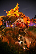 Splash Mountain is a log flume-style dark ride at Disneyland, Tokyo Disneyland, and the Magic Kingdom at the Walt Disney World Resort, based on the characters, stories, and songs from the 1946 Disney film Song of the South. -Wikipedia