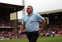 Photo: Rich Eaton.<br /> <br /> Barnsley v Cardiff City. Coca Cola Championship.<br /> <br /> 05/08/2006. Cardiff City manager Dave Jones leaves the pitch a happy man after his team win 2-1 away in the first game of the season