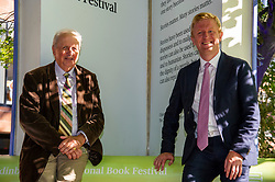 """Pictured: Alexander McCall-Smith<br />Author Alexander McCall-Smith visited the Book Festival today were he linked up with Secretary of State for Digital, Culture, Media and Sport  in the UK government Oliver Dorwood<br /><br />Alexander """"Sandy"""" McCall Smith, CBE, FRSE (born 24 August 1948), is a British writer, raised in Southern Rhodesia (now Zimbabwe) and these days an Emeritus Professor of Medical Law at the University of Edinburgh. He became a respected expert on medical law and bioethics and served on related British and international committees. He has since become known as a fiction writer, with sales in English exceeding 40 million by 2010 and translations into 46 languages. He is known as the creator of The No. 1 Ladies' Detective Agency series. """"McCall"""" forms part of his surname.  <br /><br />Oliver James Dowden, CBE is a British politician who has served as Secretary of State for Digital, Culture, Media and Sport since 2020. A member of the Conservative Party, he has been Member of Parliament for Hertsmere since 2015.<br /><br />Ger Harley 