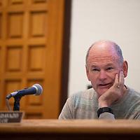 City Councilor Allan Landavazo at a City Council meeting Tuesday, Dec. 10 in Gallup.