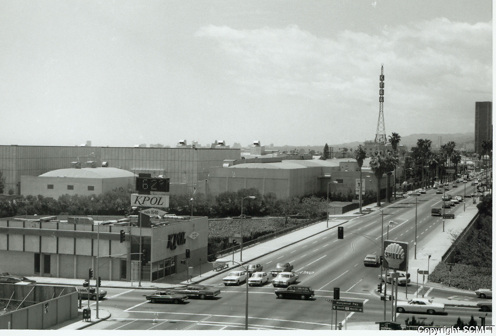 1973 Looking west on Sunset Blvd. at Wilton Dr.