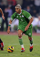 Fotball<br /> Algerie<br /> 14.11.2009<br /> Egypt v Algerie<br /> Foto: imago/Digitalsport<br /> NORWAY ONLY<br /> <br /> Kaled LEMMOUCHIA (ALG) am Ball