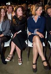 © Licensed to London News Pictures. 12/10/2015. London, UK. BARONESS KARREN BRADY  (left) and Economist STEPHANIE FLANDERS (right) seated before at the event. The launch of the Britain Stronger in Europe campaign at the Truman Building in London. The campaign is being by led by Former M&S chairman, Lord Stuart Rose. Photo credit: Ben Cawthra/LNP