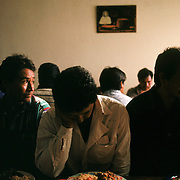 Migrants find a temporary respite at Casa del Migrante in Tijuana from the difficulties crossing the U.S./Mexico border. Many of the migrants suffer psychological trauma from failed crossings and from being away from their families, said Father Fanzolato who headed the Catholic shelter. The shelter provides one hot meal per day, prayer services and a place to sleep before the migrants continue north into California. Please contact Todd Bigelow directly with your licensing requests. PLEASE CONTACT TODD BIGELOW DIRECTLY WITH YOUR LICENSING REQUEST. THANK YOU!