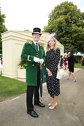 Eric Cheeseman and Holly Miller arriving during day one of Royal Ascot at Ascot Racecourse.