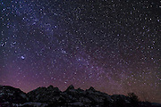 The Milky Way over the Tetons, Grand Teton National Park, Wyoming USA