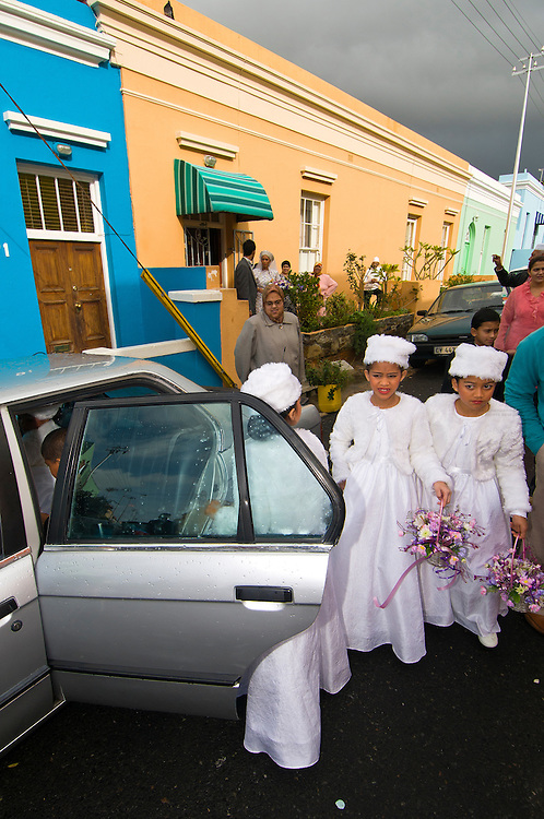 A Muslim wedding on Waalstraat in Bo Kaap section (Muslim Quarter), Cape Town, South Africa