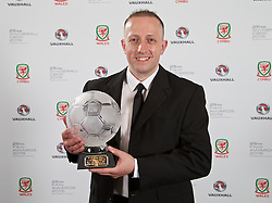 CARDIFF, WALES - Monday, October 5, 2015: FAW Fair Play Award winner Mid Wales League Divison Two Hay St Mary's FC during the FAW Awards Dinner Dinner at Cardiff City Hall. (Pic by David Rawcliffe/Propaganda)