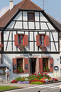 half timbered house ribeauville alsace france