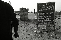 """A military post at the entrance/end of the Khyper Pass, about 10 miles form Peshawar..""""Foreigners Are Not Allowed Beyond This Point (towards Afghanistan) Unless Specially Permitted By The Political Agent Khyber Agency. By order political agent"""""""