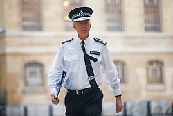 © Licensed to London News Pictures. 05/02/2017. London, UK. Outgoing Metropolitan Police commissioner Sir BERNARD HOGAN-HOWE arrives at BBC Broadcasting House in London to appear on The Andrew Marr show on BBC One on 5 February 2017. Photo credit: Tolga Akmen/LNP