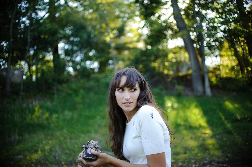 (photo by Matt Roth)..Corinne Zahlis's senior portraits shot at Historic Savage Mill Sunday, October 17, 2010.
