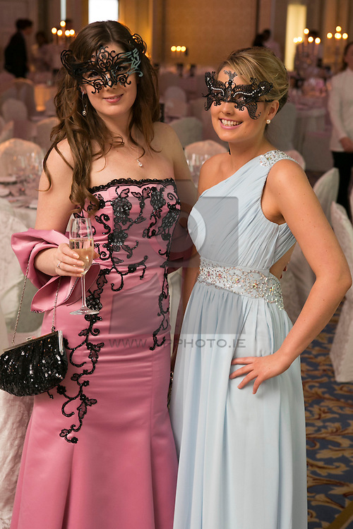 01 November 2013 Lisa and Suzanna Meindl pictured at the Irish Cancer Society Masquerade Ball in the Shelbourne Hotel. For more information or to support the Irish Cancer Society please visit www.cancer.ie . Picture Andres Poveda
