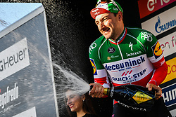March 15, 2019 - Foligno, Perugia, Italy - ELIA VIVIANI (Deceuninck - Quick-Step), winner of the stage 3 during 54th Tirreno-Adriatico. (Credit Image: © Gian Mattia D'Alberto/Lapresse via ZUMA Press)