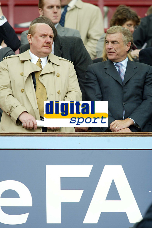 Photo: Chris Ratcliffe.<br /> Middlesbrough v West Ham United. The FA Cup, Semi-Final. 23/04/2006.<br /> Brain Barwick and Trevor Brooking have a big week ahead when they name the England manager
