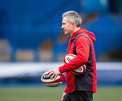 Gareth Wyatt Backs Coach of Wales<br /> <br /> Photographer Simon King/Replay Images<br /> <br /> Six Nations Round 1 - Wales Women v Italy Women - Saturday 2nd February 2020 - Cardiff Arms Park - Cardiff<br /> <br /> World Copyright © Replay Images . All rights reserved. info@replayimages.co.uk - http://replayimages.co.uk