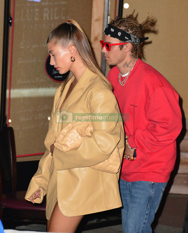 Hailey Baldwin and Justin Bieber are seen at Craig's in Los Angeles, CA.