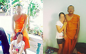 Thai online commenters are not pleased after seeing photos of a monk in his robes giving inappropria