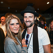 London,England,UK. 14th May 2017. Gemma Oaten , Scott Walker attends the after party of the BBL Play-Off Finals also fundraising for Hoops Aid 2017 but also a major fundraising opportunity for the Sports Traider Charity at London's O2 Arena, UK. by See Li