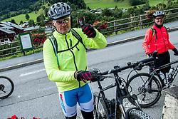 10-09-2017 FRA: BvdGF Tour du Mont Blanc day 2, St. Gervais<br /> Omgeven door imposante bergtoppen en vergezichten rijden we over mooie paden en trails naar de plaats St. Gervais waar we overnachten / Jan