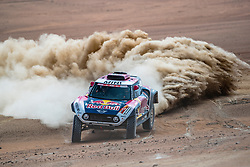 Stephane Peterhansel (FRA) of X-raid Mini JCW Team races during stage 4 of Rally Dakar 2019 from Arequipa to Tacna, Peru on January 10, 2019. // Flavien Duhamel/Red Bull Content Pool // AP-1Y3A5R8512111 // Usage for editorial use only // Please go to www.redbullcontentpool.com for further information. //