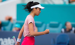 March 23, 2019 - Miami, FLORIDA, USA - Su-Wei Hiseh of Chinese Taipeh in action during her third-round match at the 2019 Miami Open WTA Premier Mandatory tennis tournament (Credit Image: © AFP7 via ZUMA Wire)