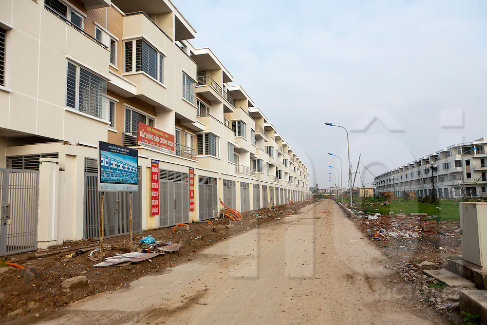 City expansion in the area of Hoa Lac, Vietnam, Southeast Asia