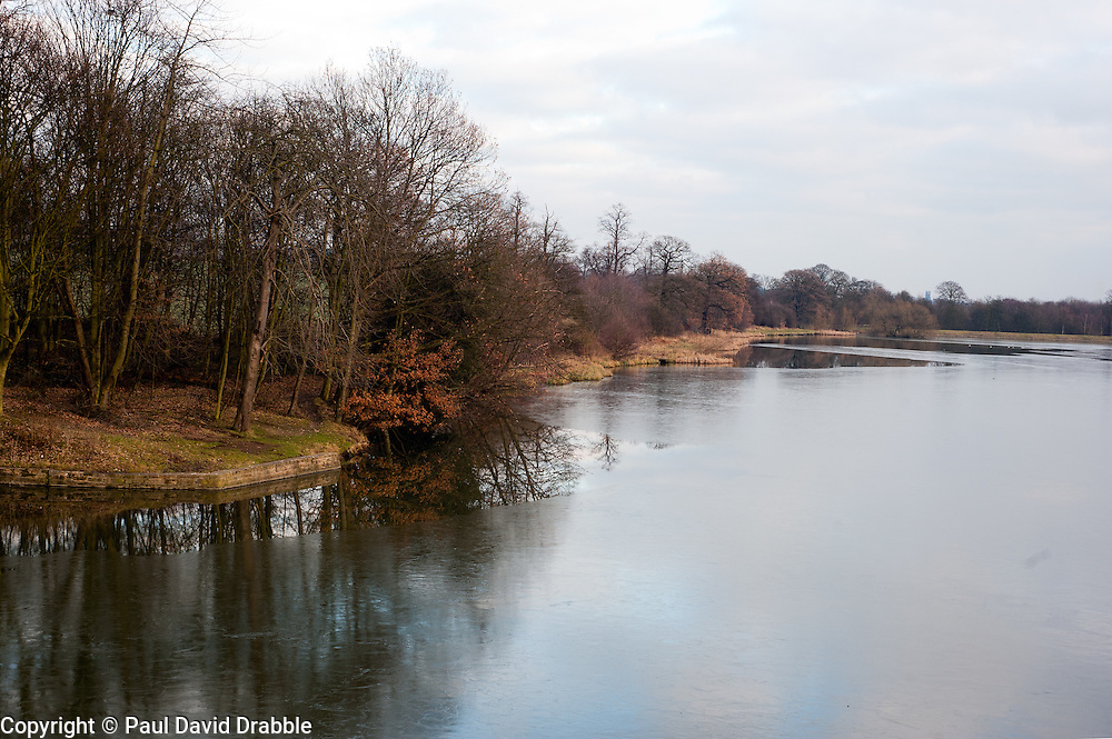 One of the frozen fishing ponds at Wentworth Woodhouse.29 January 2010.Images © Paul David Drabble