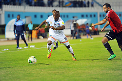 October 7, 2017 - Monastir, Tunisia - kebano Nesskens(10) of DR Congo and Aboud Mouad during the qualifying match for the FIFA 2018 World Cup in Russia between Libya and the Democratic Republic of Congo (DR Congo) at Mustapha Ben Jannet stadium in Monastir  (Credit Image: © Chokri Mahjoub via ZUMA Wire)