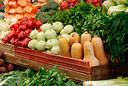 Israel, West Jerusalem Machane Yehuda market fresh vegetable stall