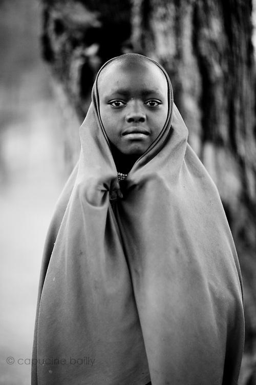 TANZANIA. Gols Mountains. August 10th 2009..A young Maasai woman.