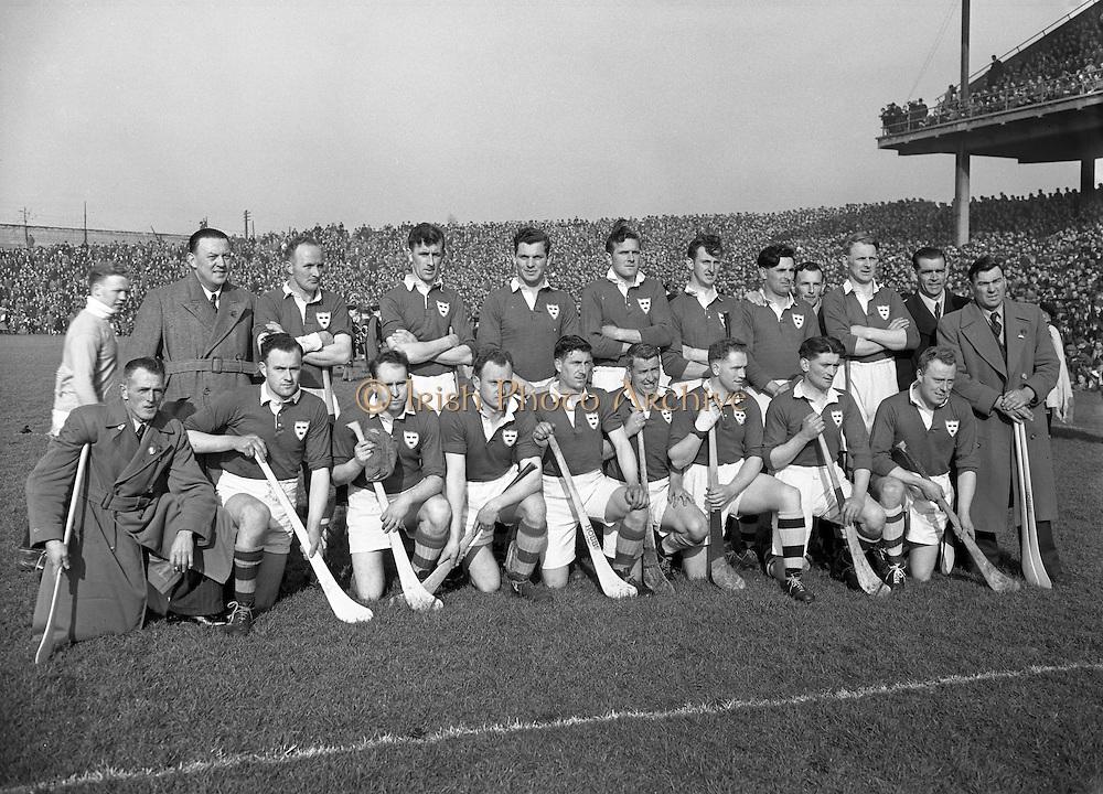 Interprovincial Railway Cup Hurling Final, .Leinster v Munster, .Munster Team..17.03.1954, 03.17.1954, 17th March 1954,