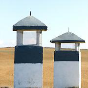 Chimneys used to ventilate the underground cellars at Villafáfila