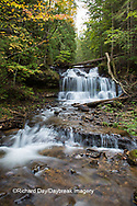 64797-00611 Wagner Falls in fall, Alger County, MI